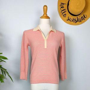 Vintage Agnona 100% Cashmere Striped Sweater 42